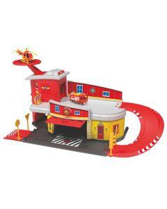 Brannmann Sam brannstasjon med helikopter