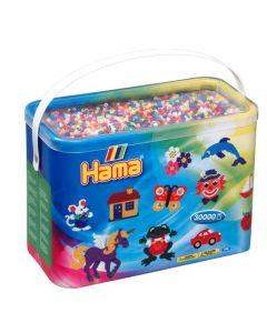 Hama Midi perler i bøtte - 30 000 stk