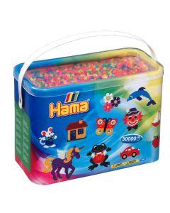 Hama Midi perler i bøtte mix 51 - 30 000 stk