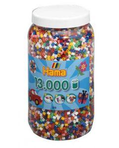 Hama Midi perler i boks - 13 000 stk
