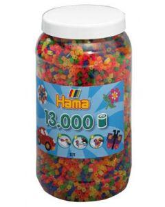 Hama Midi perler i boks mix 51 - 13 000 stk