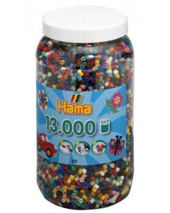 Hama Midi perler i boks mix 67 - 13 000 stk