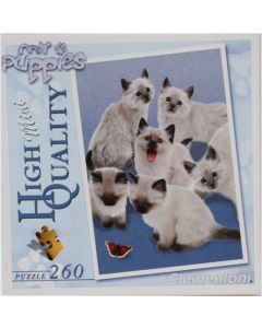 Clementoni mini puslespill katter og sommerfugl - 260 brikker