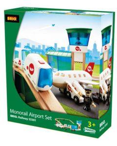 BRIO Flyplass Monorail 22 deler 33301