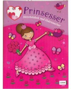 Prinsesser aktivitetsbok med klistremerker