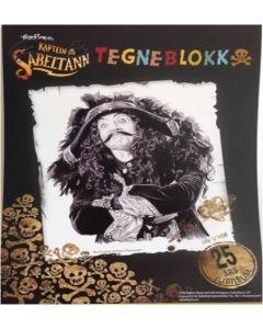 Kaptein Sabeltann tegneblokk - blanke ark
