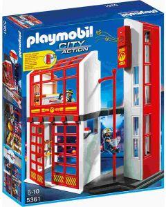 Playmobil brannstasjon med alarm 5361