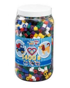 Hama Maxi perler i boks - 1400 perler