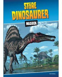 Store dinosaurer malebok