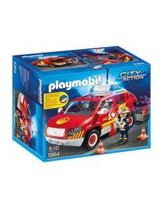 Playmobil City Action brannsjefens bil med lys og lyd 5364