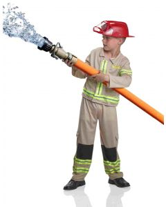 Norsk brannmannsuniform 3 - 4/5 år
