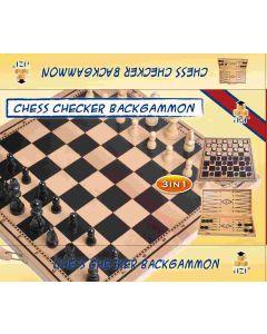 3-i-1 - Sjakk, Backgammon, Damm