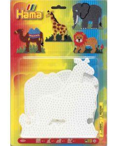 Hama Midi perlebrett - jungeldyr