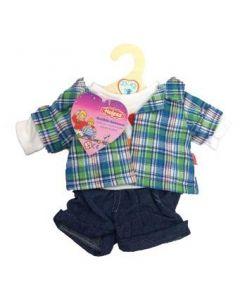 Heless - Jeans shorts med skjorte til 35-45 cm dukke