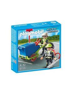 Playmobil renholdsarbeidere