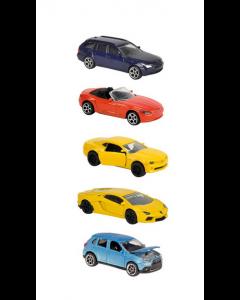 Majorette 5 biler i en pakke 7.5 cm - assortert