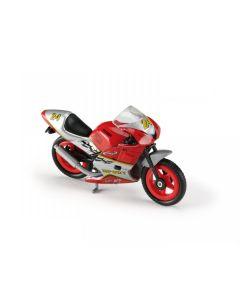 Majorette motorsykkel - rød og grå