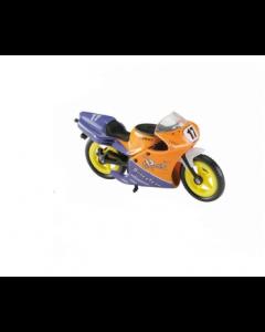 Majorette motorsykkel - oransje og lilla