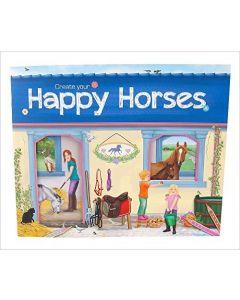 Malebok og album med klistremerker Create Your Happy Horse