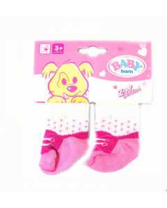Baby Born sokker 2 pakning - rosa