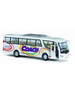Buss die-cast metall - 18cm - hvit