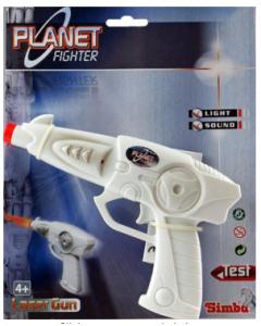 Planet Fighter laser pistol