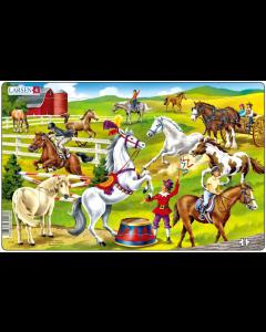 Platepuslespill Midi hester (hinder/stall) - 11 brikker