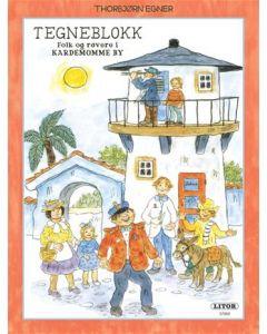 Thorbjørn Egner tegneblokk Folk og røvere i Kardemomme by - 64 ark