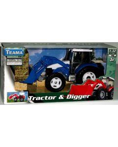 Traktor med frontlaster skala 1:32