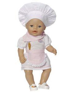 Baby Born kokkesett 43cm til jenta - rosa