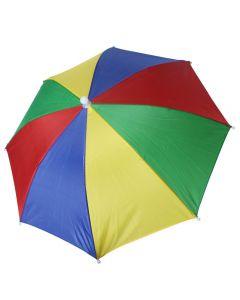 Paraply med fløyte - flerfarget