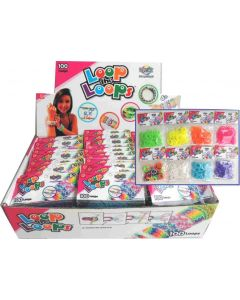 Loop Loom bands 100 deler - grønn