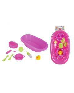 Badekar med tilbehør - lilla