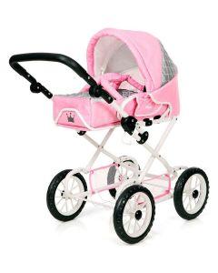 BRIO Kombi dukkevogn - royal pink