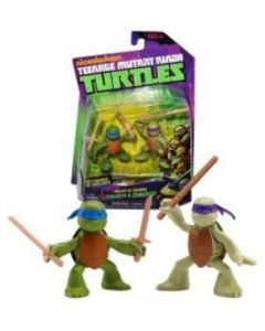 Turtles Ninja Basic Action figure - Stealth tech Ninjas in training Leonardo og Donatello.