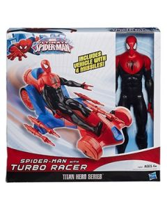 SPIDER-MAN Titan Hero Series SPIDER-MAN med Racecar