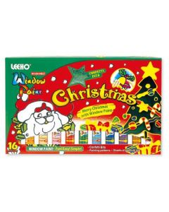 Vindusmaling med julemotiv