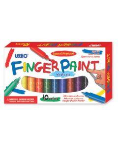 Fingermaling - 10 ulike farger