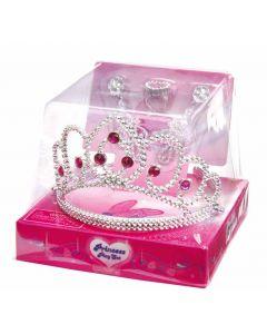 Prinsesse tiara med tilbehør - rosa