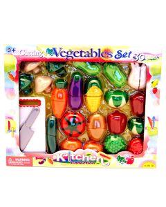 Grønnsakssett - 30 deler i plast