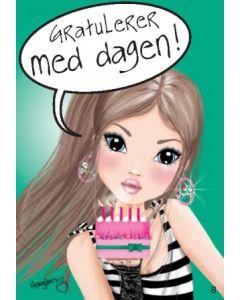TOPModel Postkort - Gratulerer med dagen!