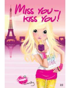 TOPModel Postkort - Miss You