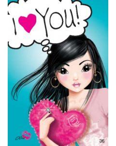 TOPModel Postkort - I Love You