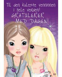 TOPModel Postkort - Til den kuleste venninnen i hele verden!