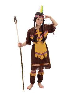 Indianerjentekostyme - 130-140cm