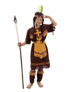 Indianerjentekostyme 120-130cm
