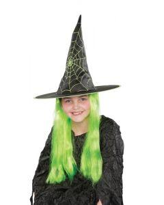 Heksehatt - grønn