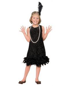 Charleston-kjole - 134 cm