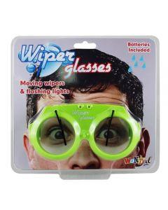 Briller med vindusviskere og blinkende lys assortert farger