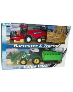 Harvester og traktor sett scala 1:32